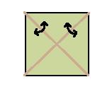محور تقارن مربع
