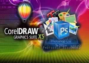 مقایسه کاربردی نرمافزارهای طراحی گرافیک – فتوشاپ در مقابل کورل دراو