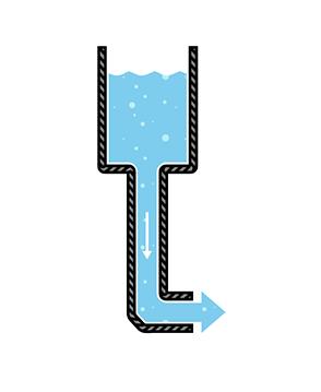 جریان مستقیم به شکل آب
