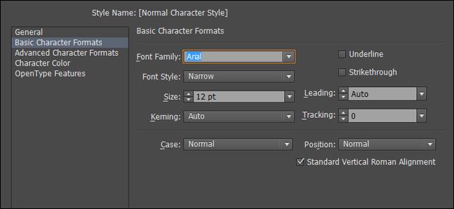 Illustrator Set default font