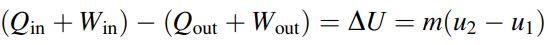معادله انرژی با فرض ثابت بودن انرژی پتانسیل و جنبشی