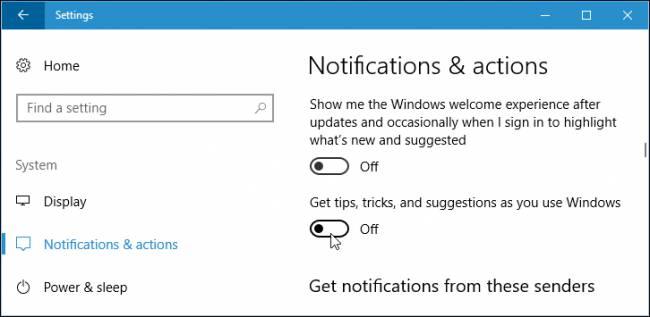 غیر فعال کردن تبلیغات و پیشنهادات ویندوز 10