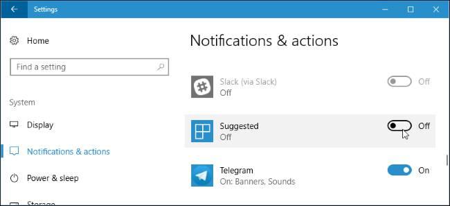 غیر فعال کردن اعلان نرمافزارها در ویندوز 10