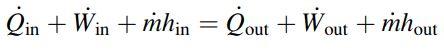 قانون اول ترمودینامیک برای یک سیستم پایا