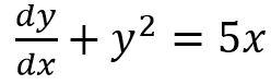 معادله دیفرانسیل مرتبه اول