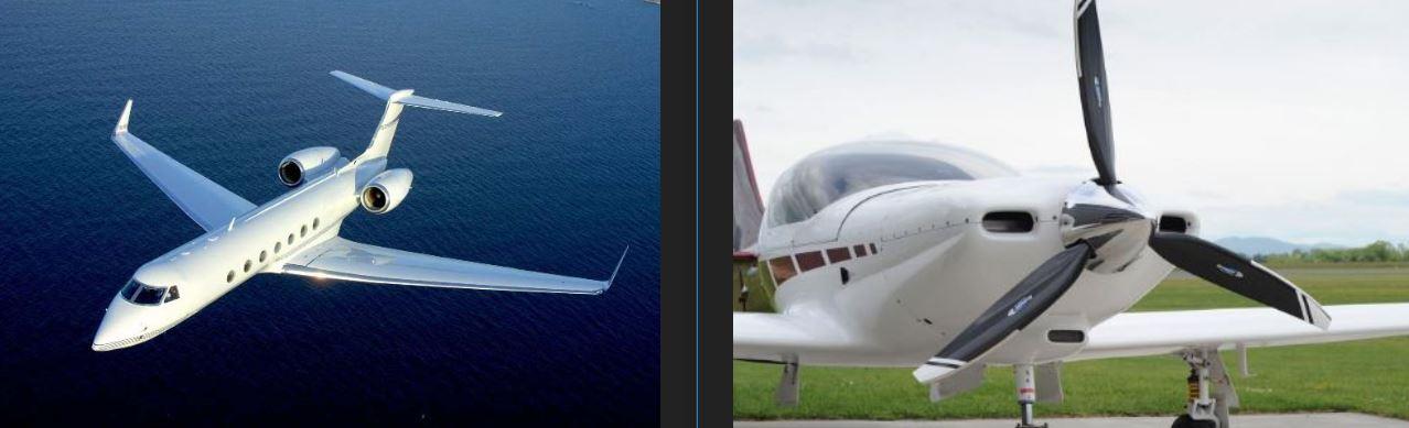 مقایسه دو هواپیمای جت و پرهای