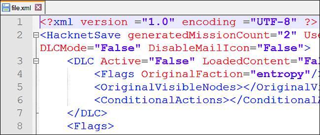 مشاهدهی فایل XML در Notepad++