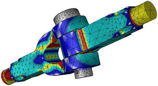 نمونهای از تحلیل تنش با استفاده از شبیهسازی کامپیوتری