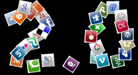 شبکههای اجتماعی بر مبنای وب ۲.۰ بنا نهاده شدند.