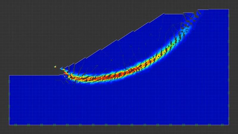 نمونهای از یک تحلیل پایداری شیب دوبعدی با استفاده از نرمفزار OptumG2