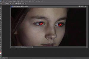 رفع قرمزی چشم در تصاویر با فتوشاپ (+ دانلود فیلم آموزش گام به گام)
