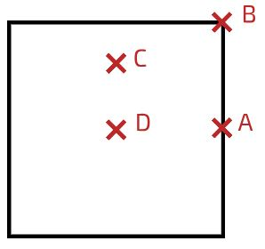 مرکز جرم مربع با چگالی یکنواخت