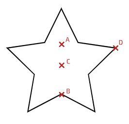 مرکز جرم ستاره پنج پر
