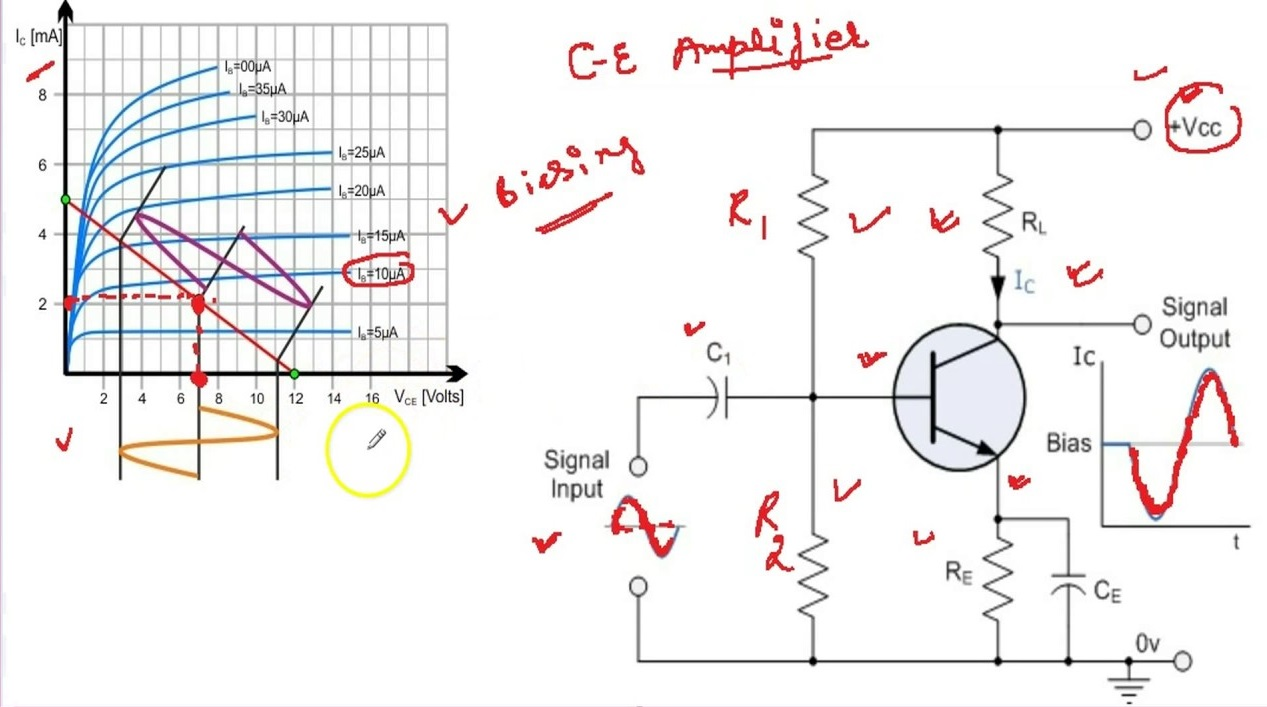 Common Emitter Amplifier The Circuit