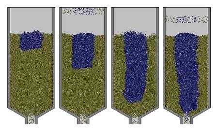 تحلیل جریان دانهای در گامهای زمانی مختلف با استفاده از روش المان مجزا