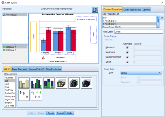 chart builder in SPSS