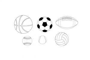 آموزش رسم انواع توپ در کاغذ – راهنمای گام به گام