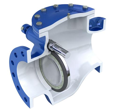 شیر یک طرفه نوسانی (swing-check-valve)