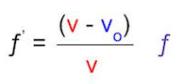 معادله اثر دوپلر