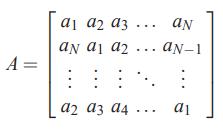 «ماتریس دوری یا گردشی» (Circulant Matrix)