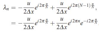 مقدار ویژه ماتریس ضرایب روش تفاضل محدود