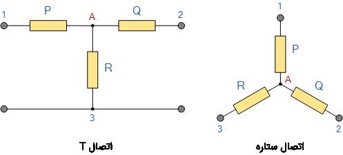 اتصال T و ستاره