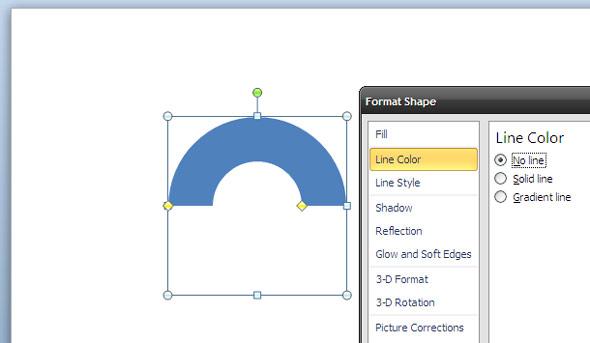 رسم دایره سه بعدی در پاورپوینت