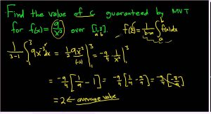 قضیه مقدار میانگین (Mean Value Theorem) — به زبان ساده