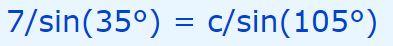 laws of sines