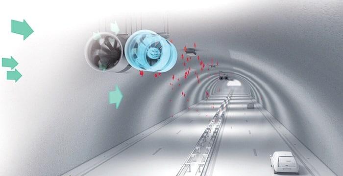سیستم تهویه یک تونل