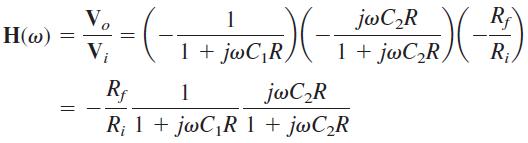 تابع تبدیل فیلتر میان گذر