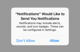 Notification permission request