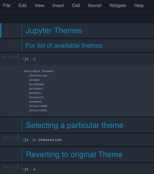 Jupyter Themes
