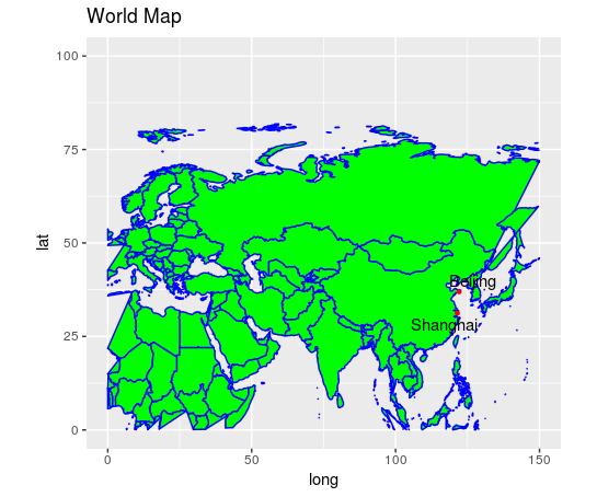 ترسیم نقشه در زبان R