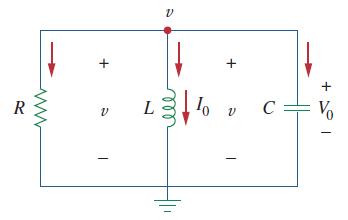 مدار RLC موازی بدون منبع