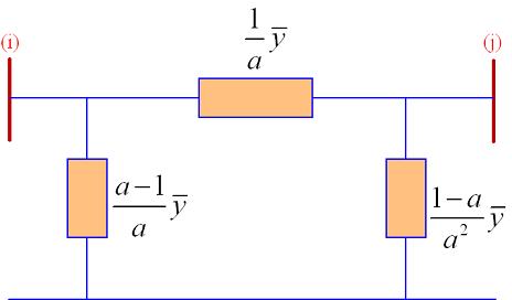 مدار معادل یک ترانسفورماتور تنظیم با نسبت دور $$a:1$$