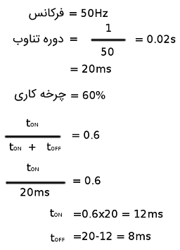 محاسبات PWM