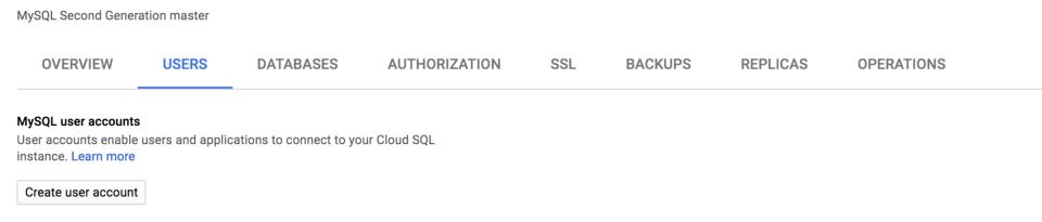 Google SQL Tabs