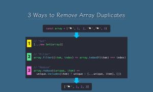 حذف موارد تکراری از آرایه های جاوا اسکریپت (ES6) — به زبان ساده