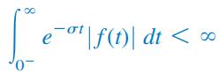 همگرایی تبدیل لاپلاس