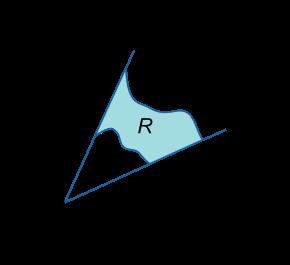 ناحیه R در دستگاه مختصات قطبی