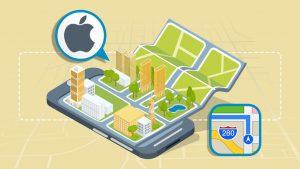 کار با اپلیکیشن Maps در گوشی های آیفون – آموزک [ویدیوی آموزشی]