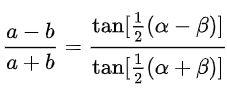 قانون تانژانتها