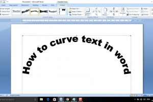 ایجاد متون منحنی در Word – راهنمای کاربردی