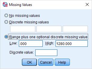 تعیین مقدارهای گمشده توسط کاربر در SPSS