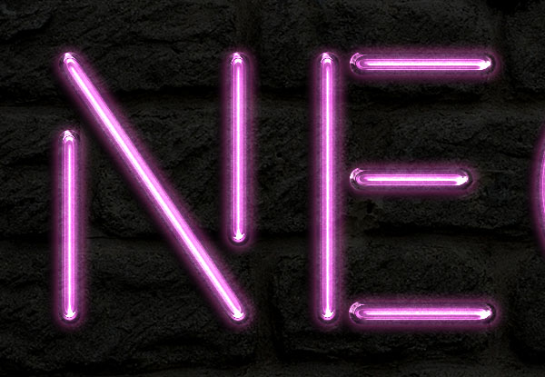 آموزش فتوشاپ: طراحی متن با جلوه لامپ نئون