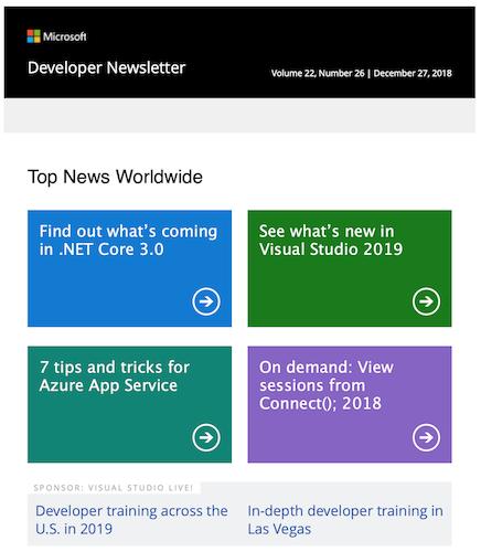 Microsoft Development Newsletter