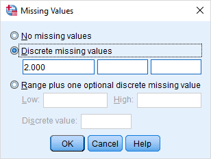 mobile options missing values
