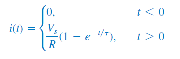 جریان سلف با مقدار اولیه صفر