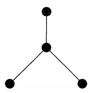 یک درخت با ۴ راس و سه یال